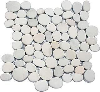 Sliced Ivory Pebble Tile 12x12