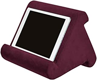 Automotor Multi-Angle Tablet Stand Soft Pillow Holder Reading Pillow for iPads, Tablets, eReaders, Smartphones, Books, Magazines (Wine Red)