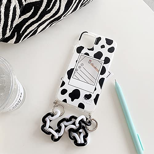 LIUYAWEI Pulsera Transparente de Cebra Estuche Blando con Cadena de muñeca para iPhone 12 Pro MAX 11 Pro MAX Mini 7 8 6 S Plus X XS XR SE 2020 Funda, A, para iPhone X
