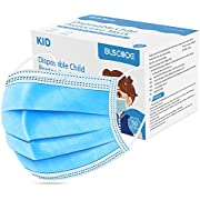 BLScode Disposable Kids Face Protective Masks, 3-Layer Facial Cover Masks with Elastic Ear Loops, Comfortable Universal Design for Kids Children School Daily Use (Pack of 50)