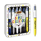 BIC4Colores Messages Bolígrafos de Punta Media (1,0mm) - Varios Mensajes, Caja Metálica con 6Uds.