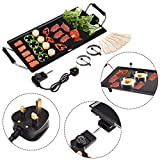 CASART Electric Teppanyaki Grill Table Hot BBQ Plate for Kitchen Dinner Party Camping Festival Cooking 3 Sizes Available L XL XXL (Large)