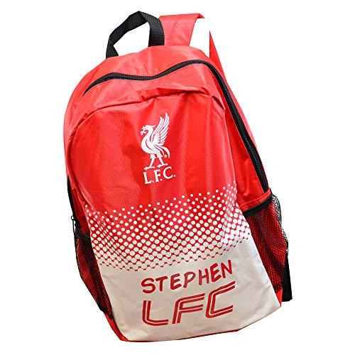 Personalised Liverpool Backpack Football Boys School Bag Soccer Gym/Men/Printed/Zip/Rucksack Stadium/Big Large/30 x 15.5 x 40 Centimetre