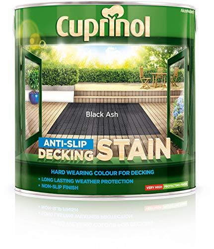 Cuprinol Anti Slip Decking Stain 2,5 l Black Ash - Holzlasuren (Decking, 2,5 l, 8 m²/L, Black Ash, Auf Wasserbasis, Durchscheinend)