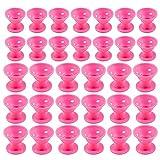 Gobesty bigodini in silicone, 80 pezzi bigodini magici per capelli morbidi senza cura del calore per le donne ragazze (ROSA), 40 bigodini in silicone grandi e 40 piccoli con custodia
