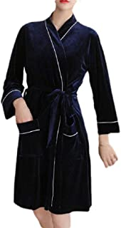 Macondoo Womens Homewear Belted Robe Bathrobe Velour Bathrobes