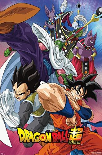 Trends International Dragon Ball: Super - Group Wall Poster, 22.375' x 34', Unframed Version