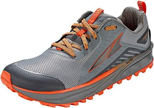 ALTRA Men's AL0A4VQI TIMP 3 Trail Running Shoe, Gray/Orange - 10.5 M US