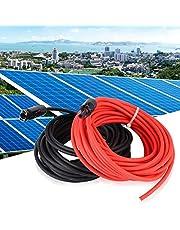 Solar Extension Wire met Connector 10AWG voor Outdoor Zonnepaneel Gloednieuw(Red 30FT+Black 30FT, white)