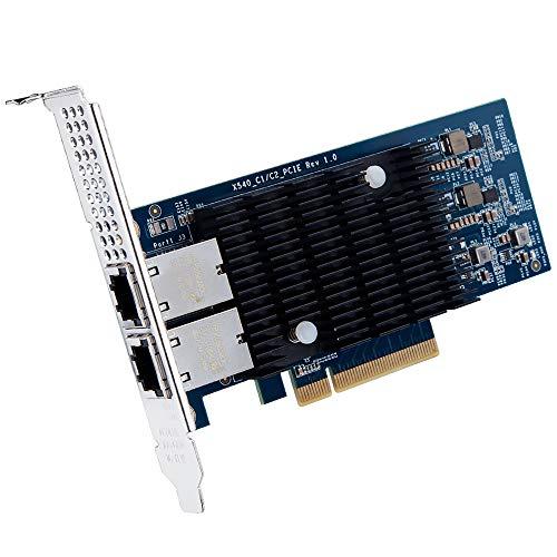 ipolex 10Gb Netzwerkkarte PCI Express Intel X540-T2 - X540 Chipsatz, 10 Gigabit Ethernet PCI-E Dual RJ45 Ports Netzwerkadapter (NIC) für Windows Server, Linux, VMware ESX