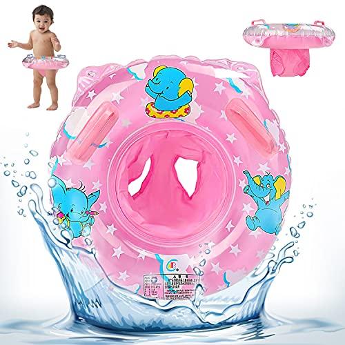 Salvagente Neonato, Ciambella Neonato Mare Rosa, Anello di Nuoto per Bebè Baby Float Neonato Salvagente Bambina Salvagente Mutandina Bambini per Bambini da 6 A 30 Mesi (Rosa)