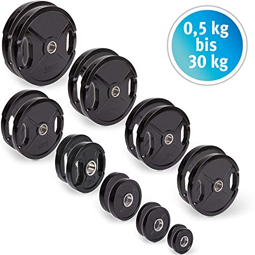 C.P. Sport Olympisch Plaat Rubber 1 Paar 50 mm Gewicht Schijf Platen 5kg Bumper Platen (0,5 kg 25 kg Capaciteit Per Paar