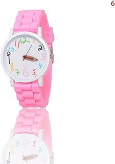 Souarts Pink Silicon Bracelet Wrist Watch