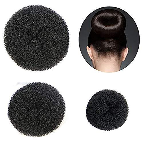 Beito 3 Stück Frauen Haar Chignon Bun Donut Shapers Knotenring Duttkissen Haarknoten Knotenrolle Haarschmuck