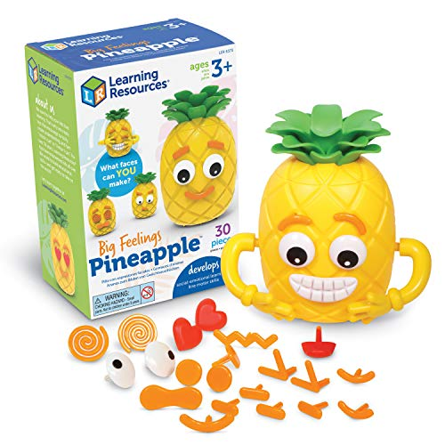 Learning Resources Big Feelings Pineapple, Social Emotional Toy, Creative Play, Body Awareness, Ages 3+, Multi