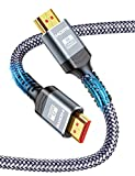 Corto 0.5m Cable HDMI 2.1 8K, Snowkids Cable HDMI 8K@60Hz Alta Velocidad 48Gbps UHD...