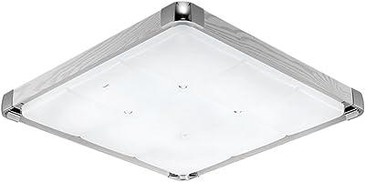 Trio-Leuchten LED-Deckenleuchte in chrom, Glas weiß