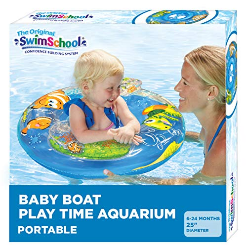 Product Image of the SwimSchool Aquarium Baby Pool Float, Baby Boat with Activity Centers, Safety...