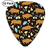 Guitar Picks Boars Wild Pigs Custom Abs Guitar Plectrums For Bass, Electric And Acoustic Guitars-12 Pack