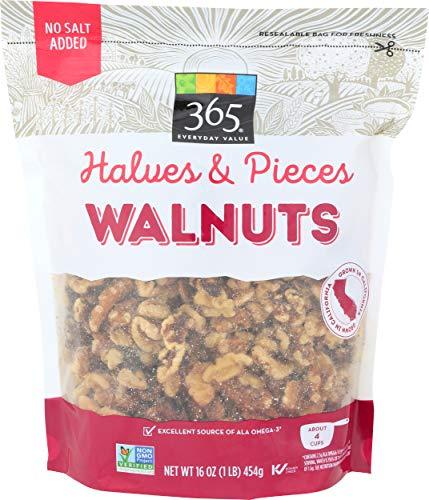 365 Everyday Value, Walnuts, Halves & Pieces, 16 oz