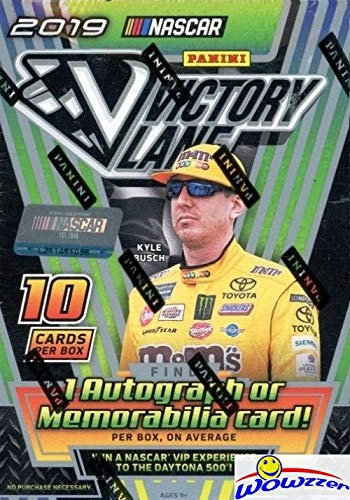 2019 Panini Victory Lane Nascar Racing EXCLUSIVE Factory Sealed Retail Box with AUTOGRAPH or MEMORABILIA! Look for Cards & Autographs from Dale Earnhardt, Jimmie Johnson & More! WOWZZER!