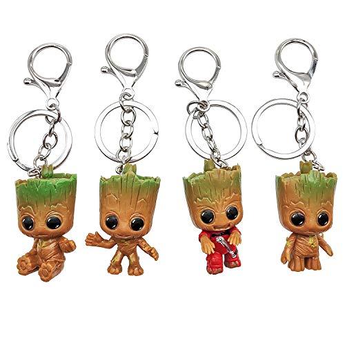 INHEMI Baby Groot Schlüsselanhänger (4er Set)