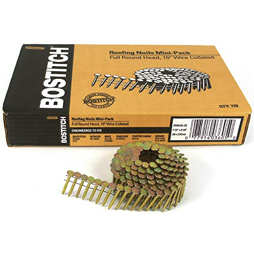 BOSTITCH CR4DGAL 1-1/2-Inch Smooth Shank 15? Coil Roofing Nails, 7,200-Qty.
