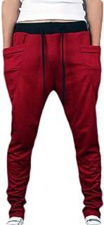 Macondoo Men's Sport Pocket Drawstring Sweatpants Elastic Waist Harem Jogger Pants