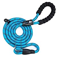 🐕 BUILT TO LAST - Each dog leads for medium dogs are made with premium quality braided ropes with an anti-bite layer. They're strong and only weigh 0.22kg, perfect for handling dogs of all sizes. 🐕 EASY ON YOUR HANDS - You'll love the foam padding on...