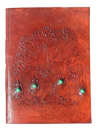 Leather Diary Celtic Tree of Life Journal Embossed Sketch Book Notebook 10' X 7'