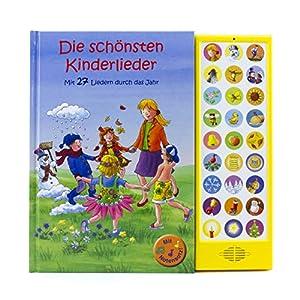 27-Button Soundbuch – Die schönsten Kinderlieder zum Mitsingen – Mit 27 Liedern durch das Jahr Hardcover-Buch mit Noten – Liederbuch
