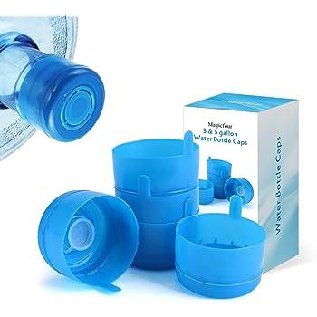 5Pcs 55mm Reusable Water Jug Caps Water Bottle 3-5 Gallon Snap On Non Spill Lids