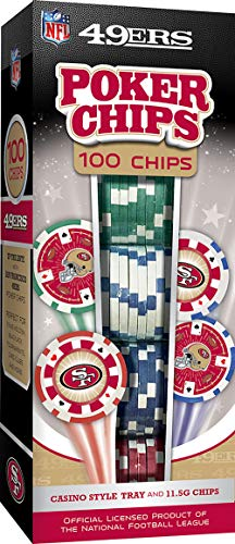 MasterPieces NFL San Francisco 49ers Poker Chips, 100 Piece