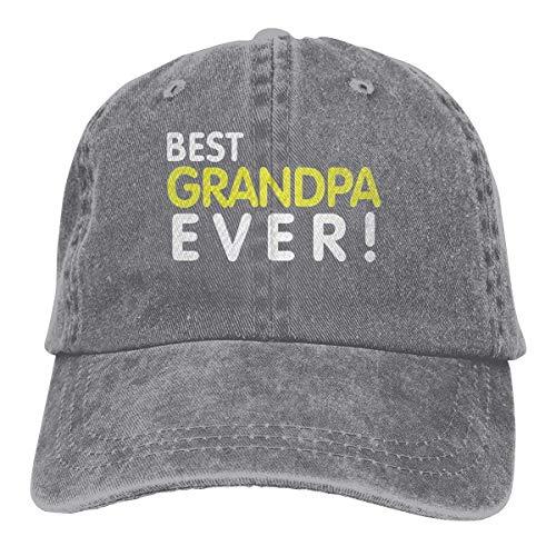 XCNGG El Mejor Abuelo Siempre Unisex Sombreros de Vaquero Deporte Sombrero de Mezclilla Gorra de béisbol de Moda Negro