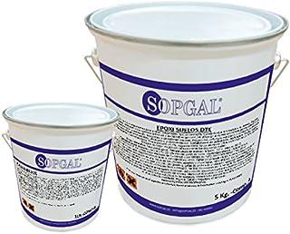 Pintura Epoxi para Suelos Industriales - 5 kgs + 1 kg, Antideslizante