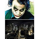 GREAT ART Set de 2 Posters XXL-Joker y Manhattan de Noche - Motivo de la película New York City Skyline Comic antihéroe Villano Gran Ciudad decoración Foto de Pared (140 x 100 cm)