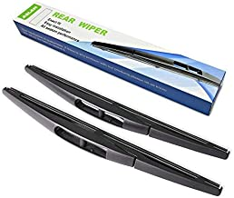 Rear Wiper Blade,ASLAM 10B Rear Windshield Wiper Blades Type-E for Original Equipment Replacement,Exact Fit(Pack of 2)
