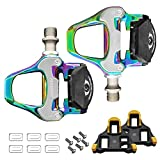 KOOTU Road Bike Pedals, 9/16' Universal Bike Pedals and Cleats Compatible with Shimano SPD-SL