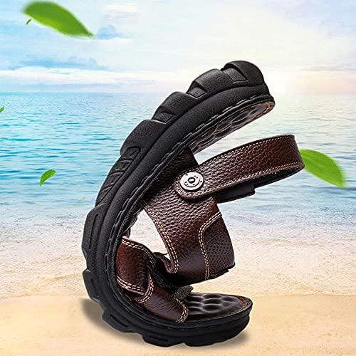 ypyrhh Sandalias Cómodo Casual Zapatos de Playa,Leisure Fashion Beach Shoes, Thick Bottomless Sandals-Brown_41,Zapatillas Flip Flops Sandal ⭐