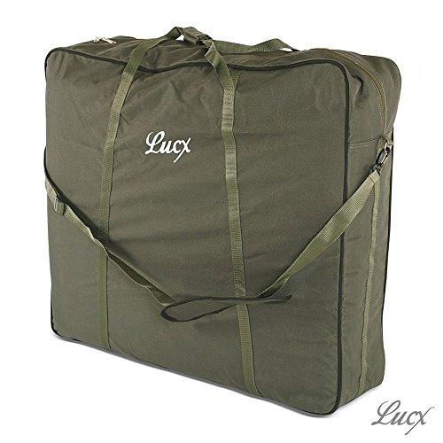 Lucx® Tragetasche XXL für Bedchair/Angelliege/Karpfenliege/Gartenliege Transporttasche, Maße (L/B/H): 82 x 90 x 30 cm
