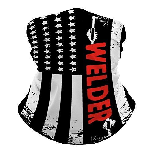 Soldador Americano Bandera Calentador de Cuello Bandana Refrescante Cuello Polaina Verano Transpirable Protección contra el Polvo UV Pasamontañas Cubierta Facial para Deportes al Aire Libre