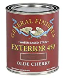 General Finishes Exterior 450 Water Based Wood Stain, 1 Quart, Olde Cherry