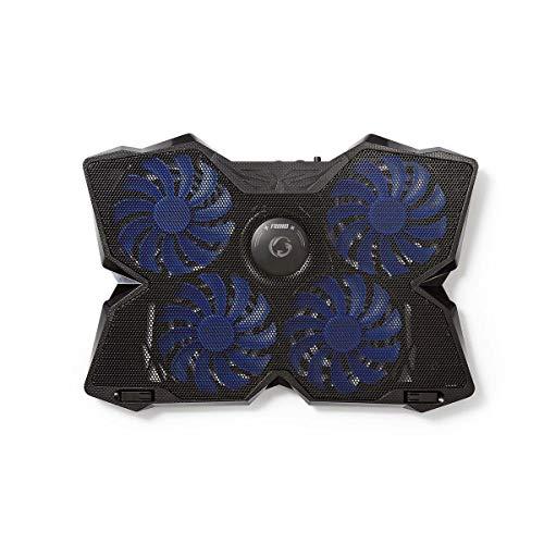 Nedis - Koeler voor Gaming-Notebook - 4 USB-Gevoede Ventilatoren - 15-19