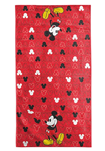 Mickey Mouse Cotton Red Bath Towel