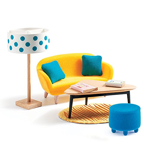 DJECO Dollhouse Living Room Furniture Playset