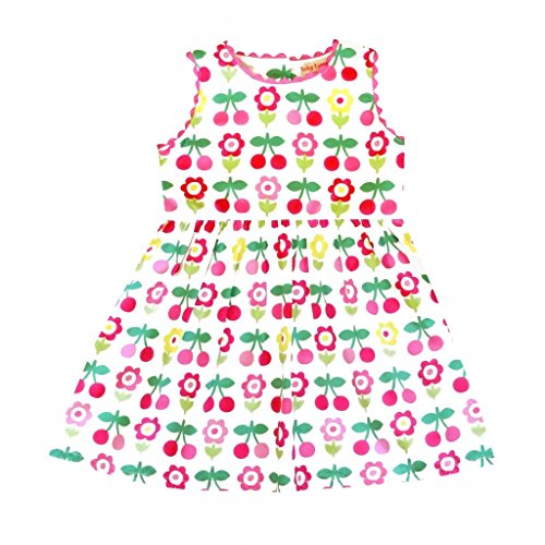 Toby Tiger - Robe Fille - Cherry Flower Party Dress - Blanc - 12 Mois