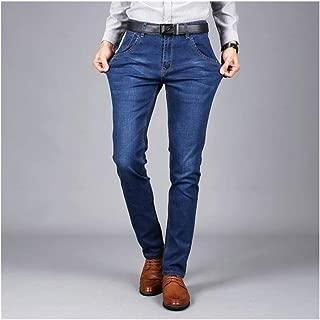LUKEEXIN Men Stretch Denim Slim Fit Jeans Plus Size Black Blue Jean for Man Pants Trousers Jeans