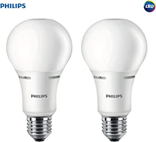 Philips LED 472464 50-100-150 Watt Equivalent 3-Way Frosted A21 Energy Star Certified LED Light Bulb in Frustration-Free-Packaging (2 Pack), 2-Pack, Soft White, 2 Piece