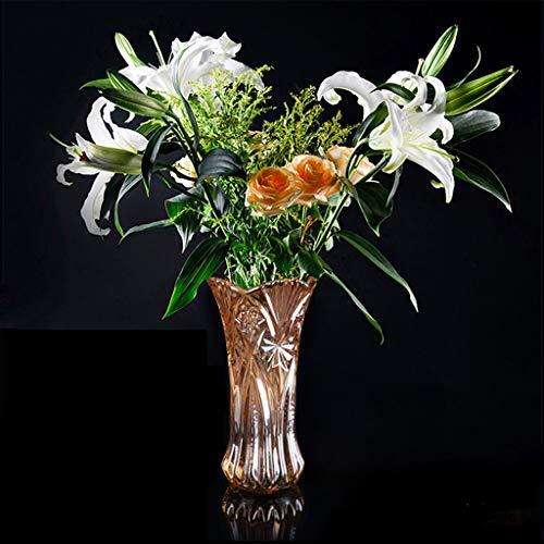 Loodvrije kristal bloem vaas thuis warm water cultuur plant creatieve bloem container verdikking en textuur