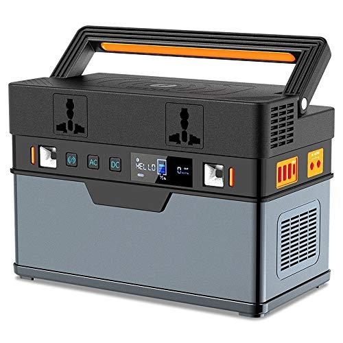 GNY Caricatore Solare 500W Portable Power Station 666Wh Generatore Caricatore Wireless per Il Campeggio Outdoor Uso Fornitura 110V 220V (Battery Capacity : Above 100000mAh, Color : EU Plug)